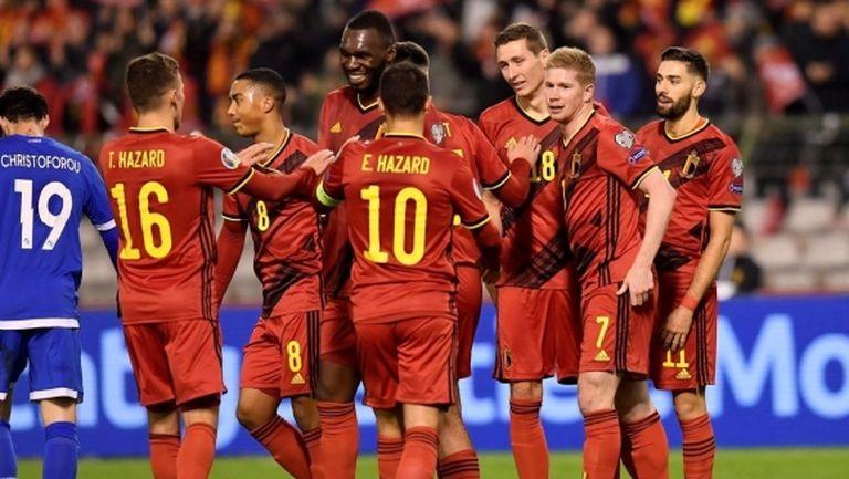 Белгия показа головата си мощ и срещу Кипър (видео)