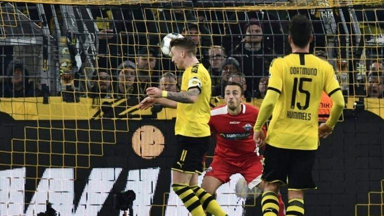 Борусия (Дортмунд) показа характер и се спаси от голяма издънка срещу последния (видео)