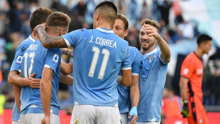 Лацио отнесе Удинезе за едно полувреме и вече гледа към Ювентус (видео)