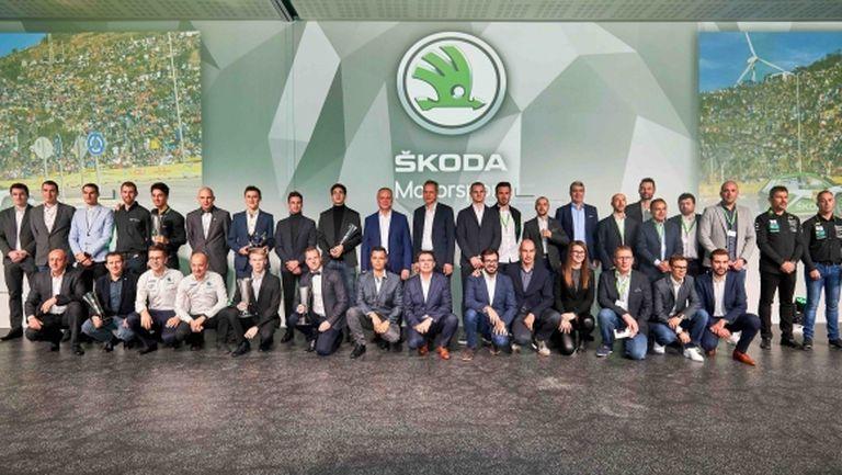 Skoda Motorsport награди българския рали шампион Мирослав Ангелов в Прага