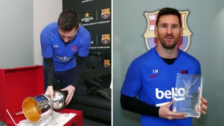 Меси получи още два трофея днес