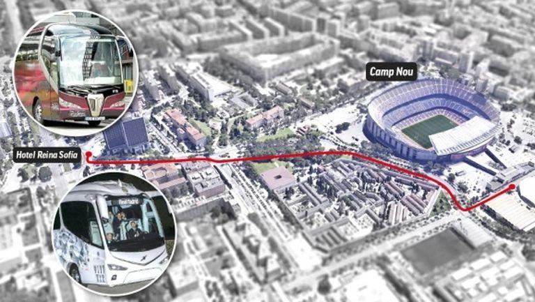 Барселона и Реал Мадрид ще пътуват заедно към стадиона