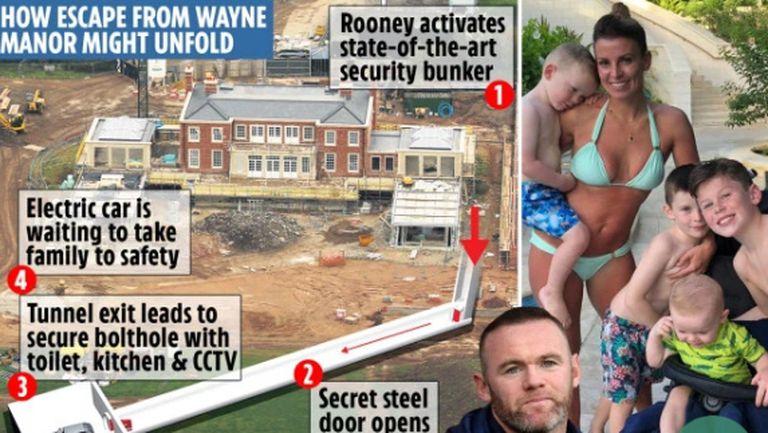 Уейн Рууни строи къща с бункер и тунел за бягство за 20 млн. паунда