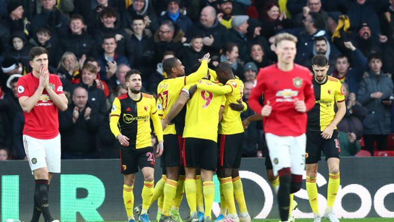 Уотфорд стигна до първата си домакинска победа за сезона срещу Ман Юнайтед