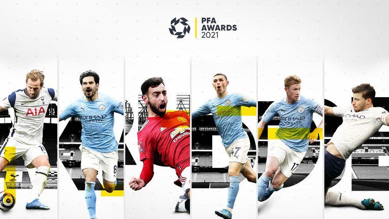 Ясни са шестимата номинирани за втората от наградите Играч на годината в Премиър лийг, четирима са от Ман Сити