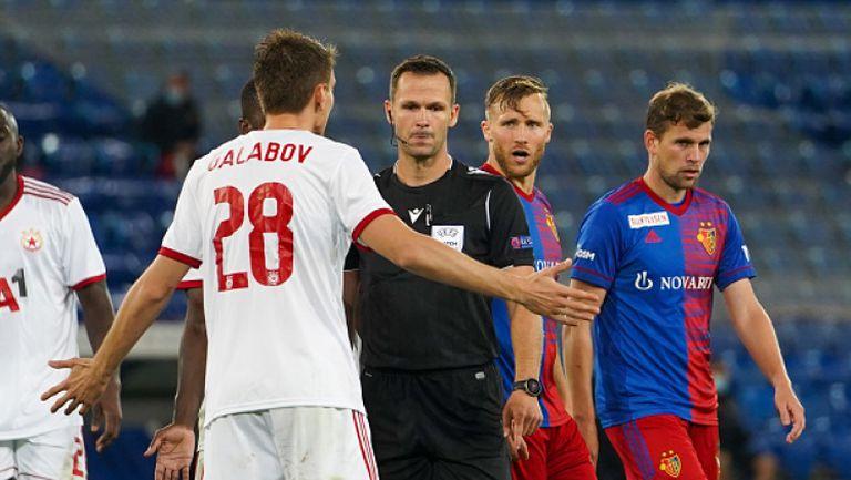 Базел поведе на ЦСКА-София след дузпа