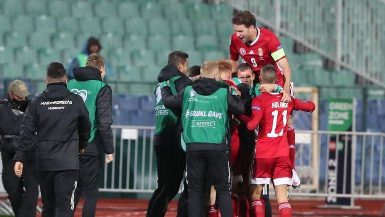 3:0 за Унгария след удар с глава на Шалай
