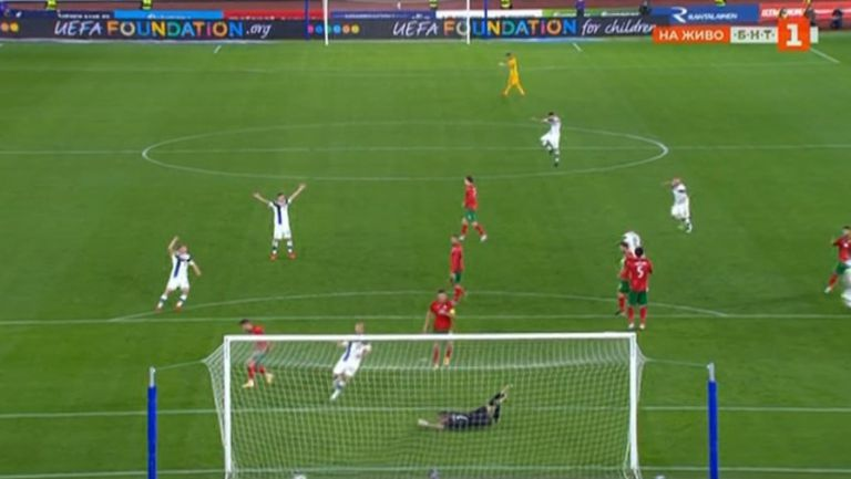 Йенсен направи резултата 2:0 за Финландия срещу България