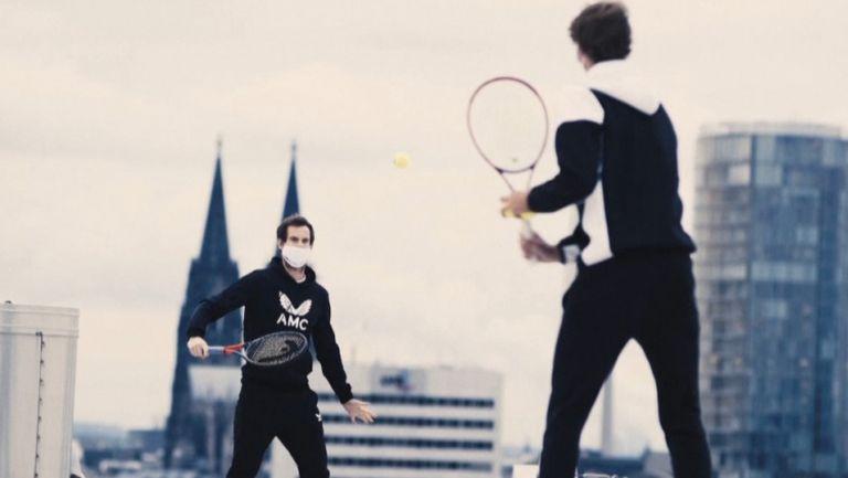 Зверев и Мъри играха тенис на покрива на спортна зала