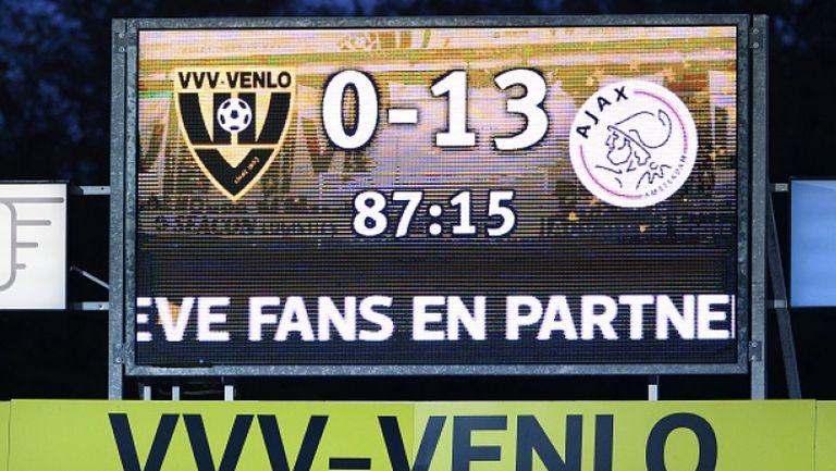 Лудост в Ередивизи - Аякс вкара 13 гола на Венло