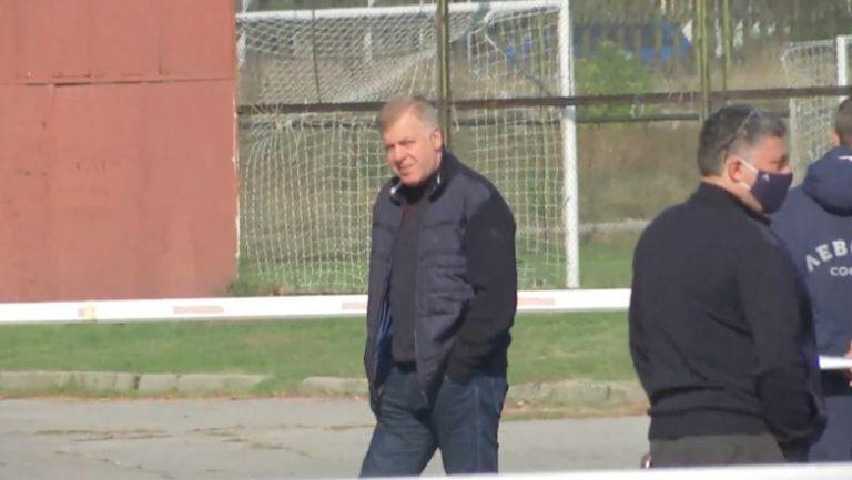 """Наско Сираков пристигна на """"Герена"""" преди откритата тренировка и УС на Левски"""