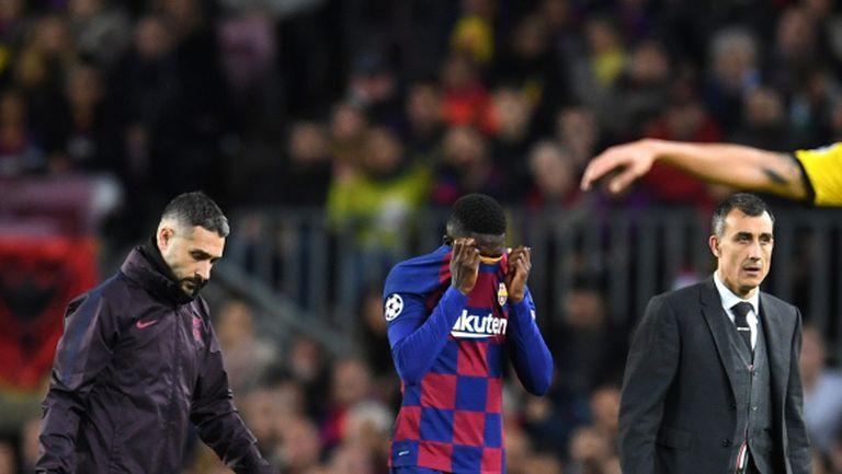 Разминаване в позициите на Юнайтед и Барса спира трансфера на Дембеле?
