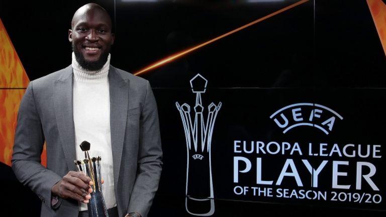 Лукаку беше избран за Играч на сезона в Лига Европа