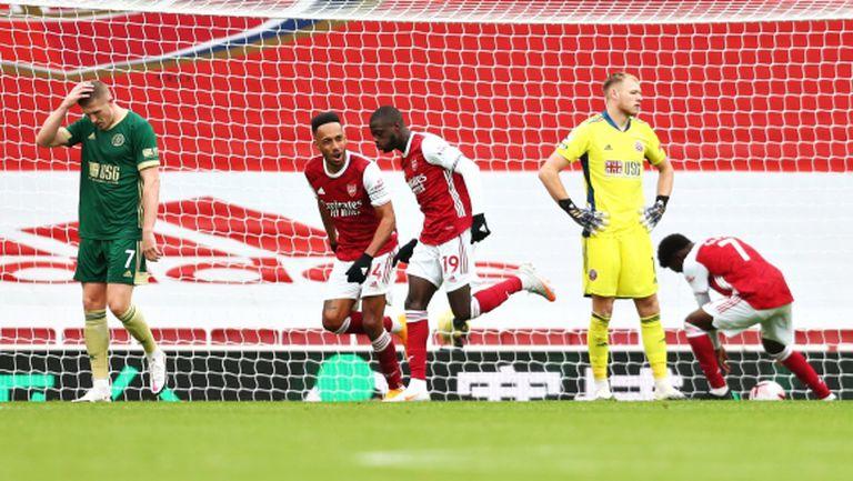 Двоен удар на Арсенал доведе до поредна загуба за Шефилд Юнайтед (видео)