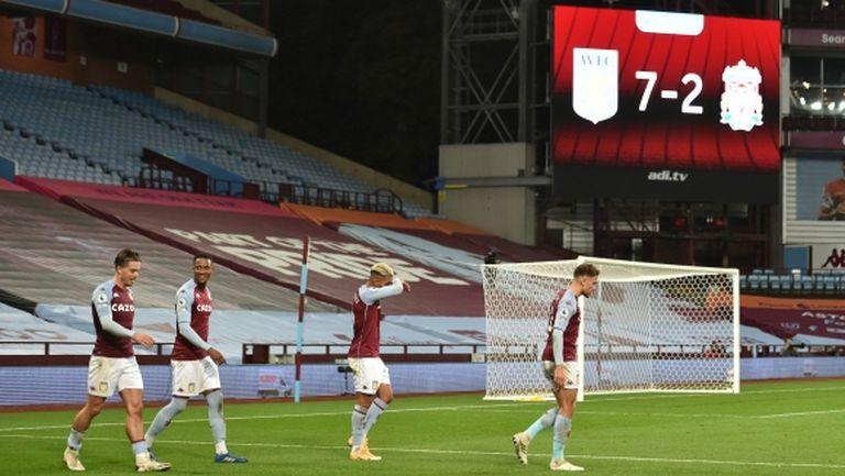 Астън Вила унищожи шампиона и вкара 7 гола на жалък Ливърпул (видео)