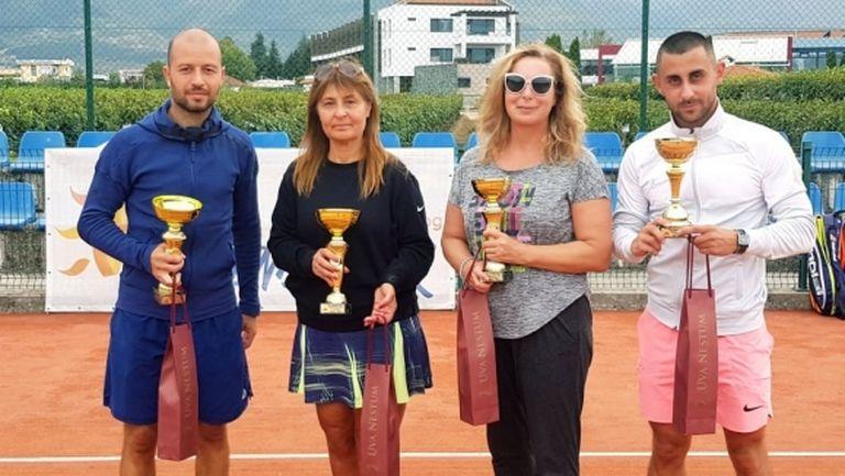 Интерактив тенис - Мариана Динкова с дубъл