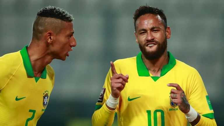 Хеттрик на Неймар донесе успех на Бразилия