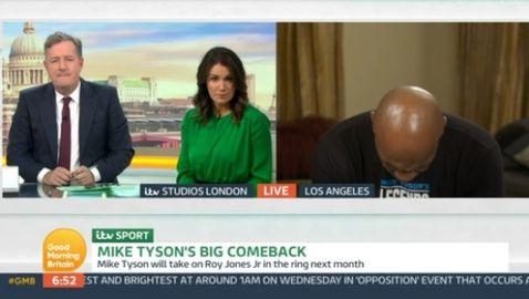 Майк Тайсън заспа по време на интервю (видео)