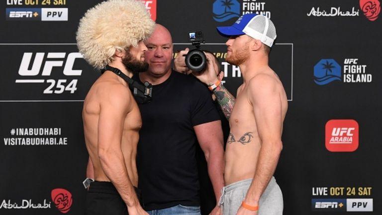 Кантар преди UFC 254 (видео)