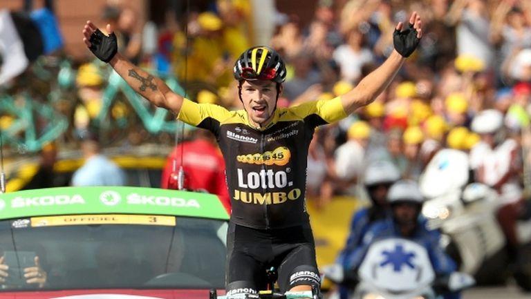 """Роглич изравни Карапас на върха във """"Вуелтата"""" след победа в 10-ия етап"""