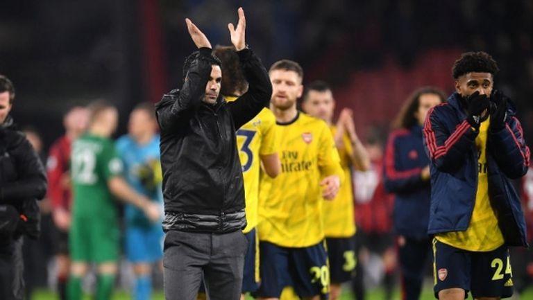 Артета не очаквал Арсенал да се представи толкова добре в първия му мач като мениджър