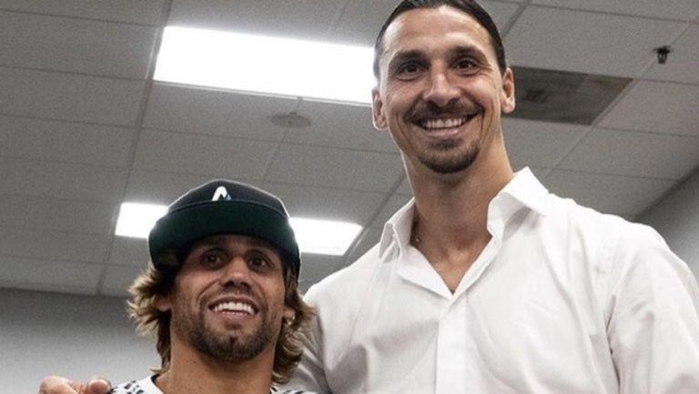 Златан се срещна с член на Залата на славата на UFC