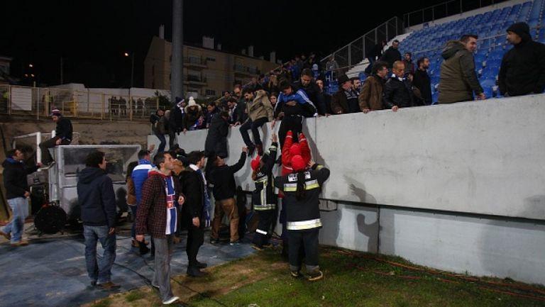 Опасност от срутване на трибуна прекрати мач на Порто