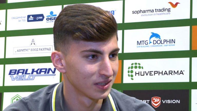 Талантът на Лудогорец Светослав Ковачев: Чувствам се отлично в първия отбор, мечтая за Ман Юнайтед