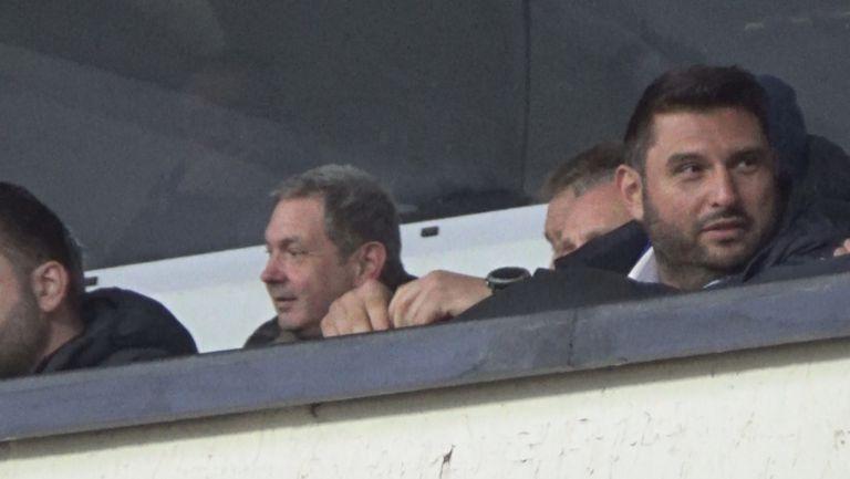 Андрей Аспарухов в ложата за мача на Левски