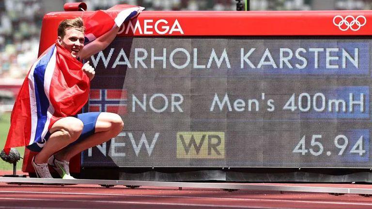 Чудовищен световен рекорд донесе олимпийска титла на Карстен Вархолм на 400 метра с препятствия