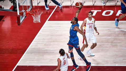 САЩ развали магията на Рики Рубио и отново изхвърли Испания от Олимпийските игри