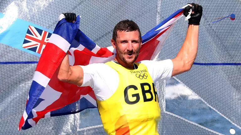 Джайлс Скот спечели последната олимпийска титла в историята на ветроходството в клас Фин
