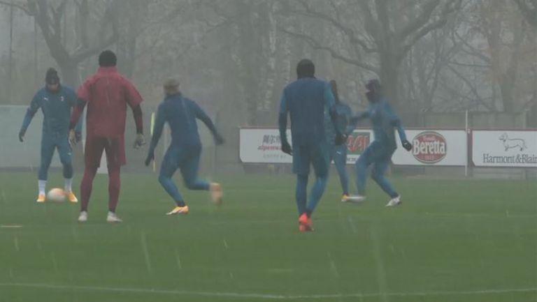 И проливният дъжд не спря подготовката на Милан