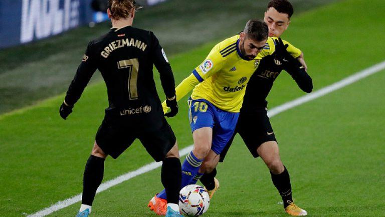 Нов провал за Барселона, Кадис повали каталунците с 2:1