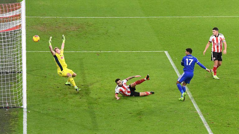 Късен гол на Варди донесе на Лестър ценен успех с 2:1 срещу Шефилд Юнайтед