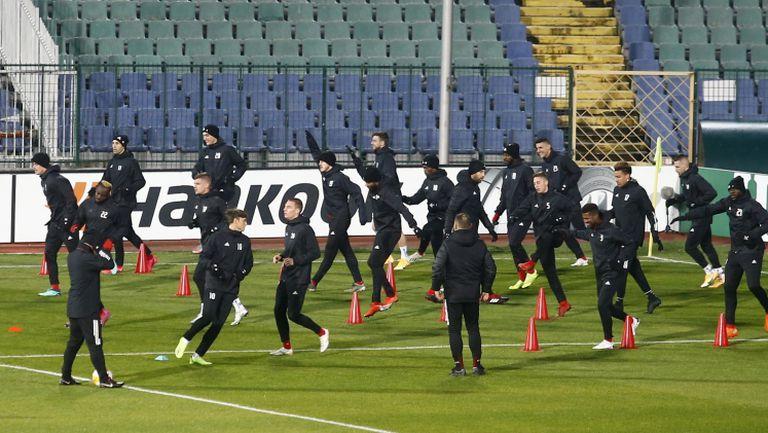 ЦСКА-София с последна тренировка преди двубоя с Рома от Лига Европа