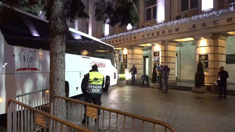 Рома акостира на националния стадион за сблъсъка с ЦСКА-София