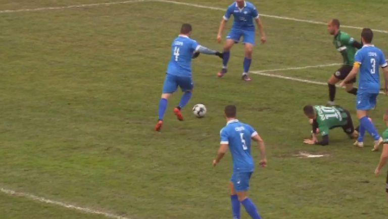 "Иво Харизанов вкара ранен гол за Спортист на ""Лазур"""