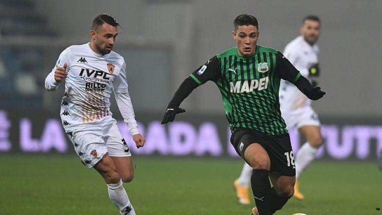Сасуоло се изкачи на второто място в Серия А след минимален успех над Беневенто
