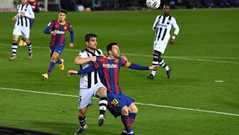 Барселона - Леванте 1:0, Меси измъкна каталунците