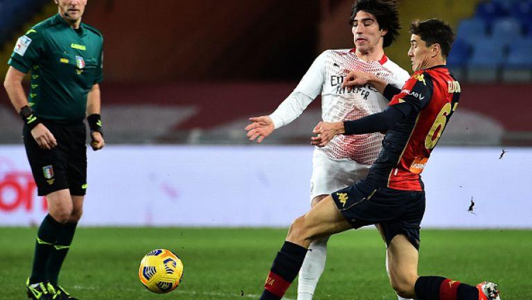 Лидерът Милан не успя да победи застрашения от изпадане Дженоа