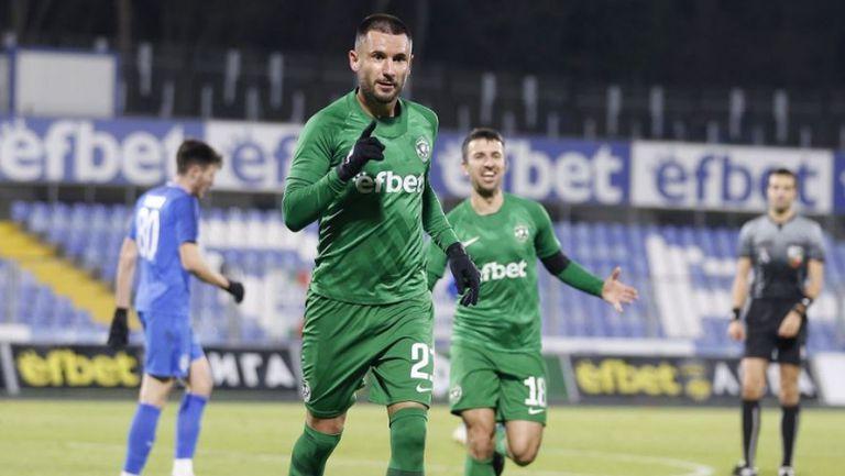 Григоре направи резултата 2:1 за Лудогорец срещу Арда