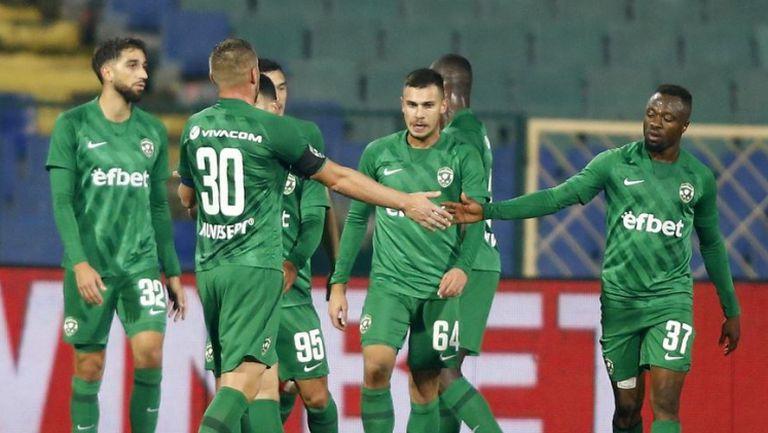 Доминик Янков бележи във врата на Ботев (Пд) за 2:0 в полза на Лудогорец