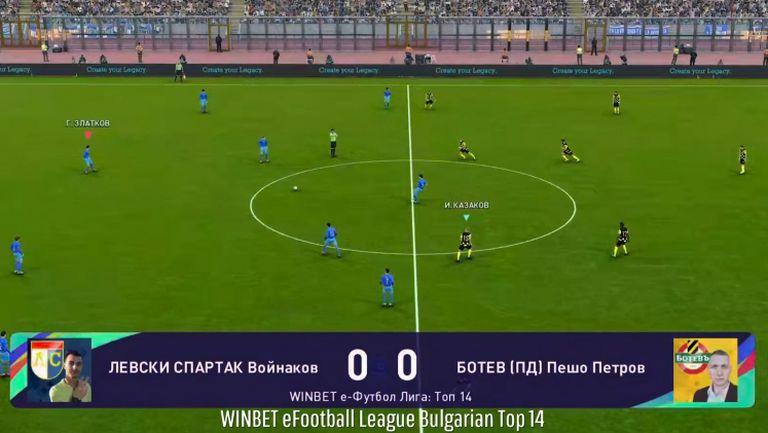 Левски Спартак завърши с успех участието си в WINBET е-футбол лига 2020