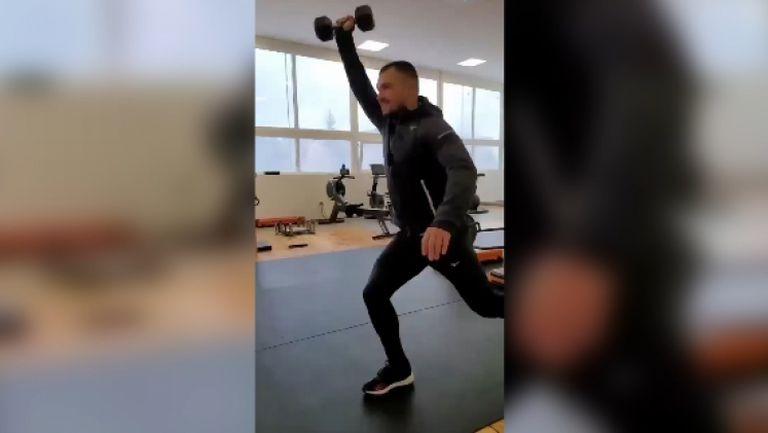 Божинов не спира да тренира дори по време на празниците
