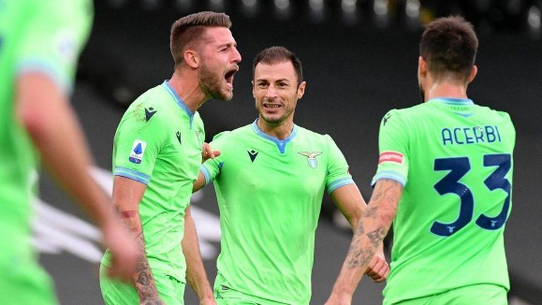 Лацио продължава с победите като гост (видео)