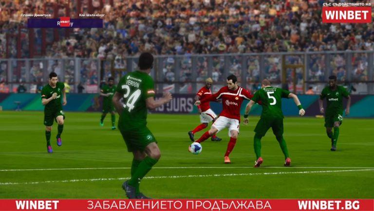 ЦСКА разгроми Лудогорец с 11 гола в 2 мача в WINBET е-футбол лига
