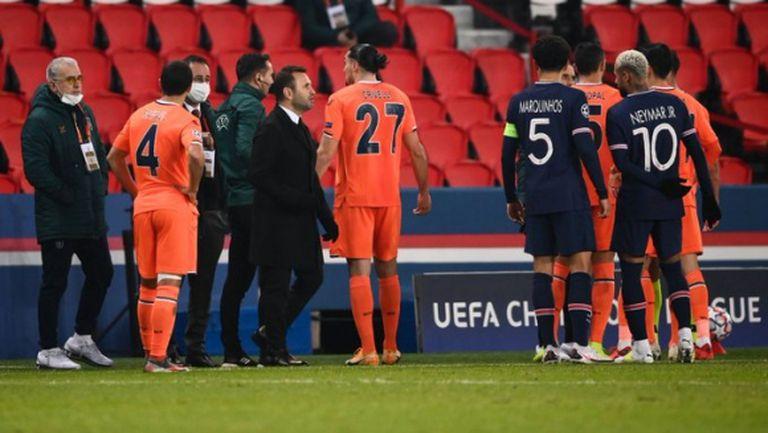 Расистки скандал прекъсна мач от Шампионската лига (видео)