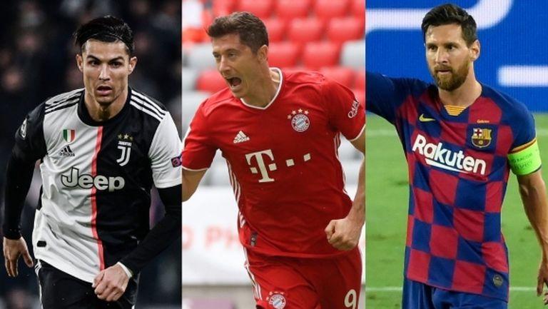 Левандовски, Роналдо и Меси ще спорят за наградата на ФИФА