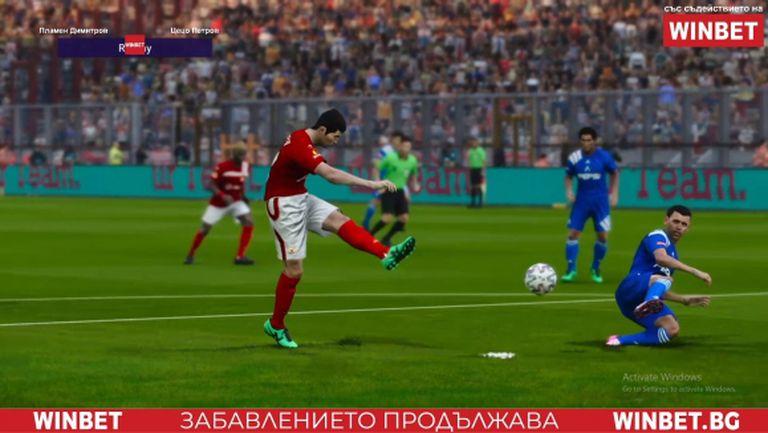 Смазващо превъзходство за ЦСКА във вечното дерби на върха в WINBET е-футбол лига